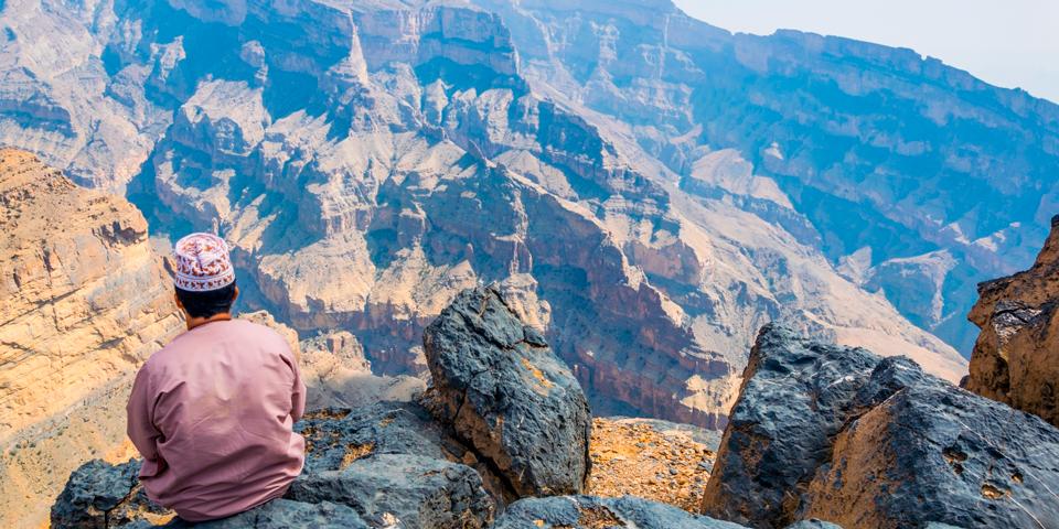 Udsigt over arabiens Grand Canyon.