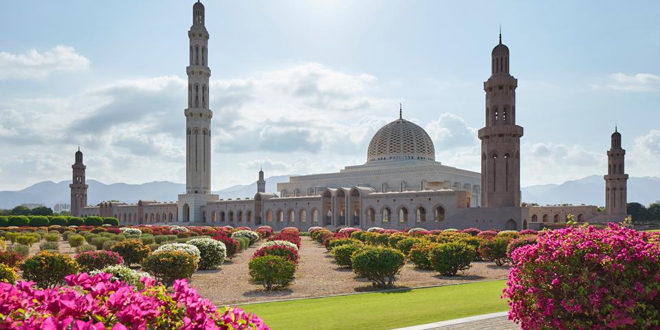 Sultan Qaboos store moske i Muscat.