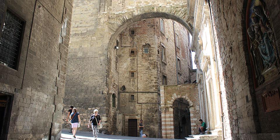 Den stemningsfulde middelalderby Perugia.