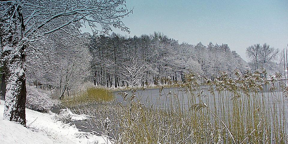 Barlinek Sø er også flot ved vintertide.