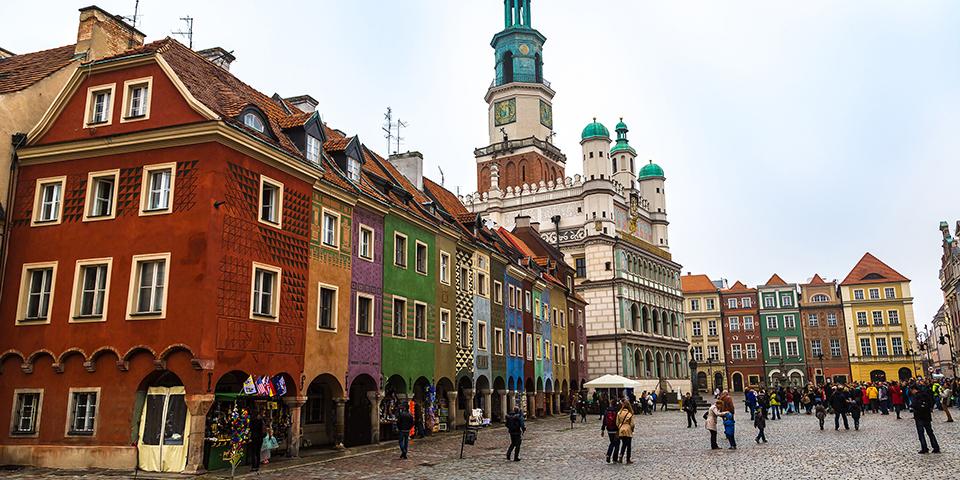 Den gamle markedsplads i Poznan.