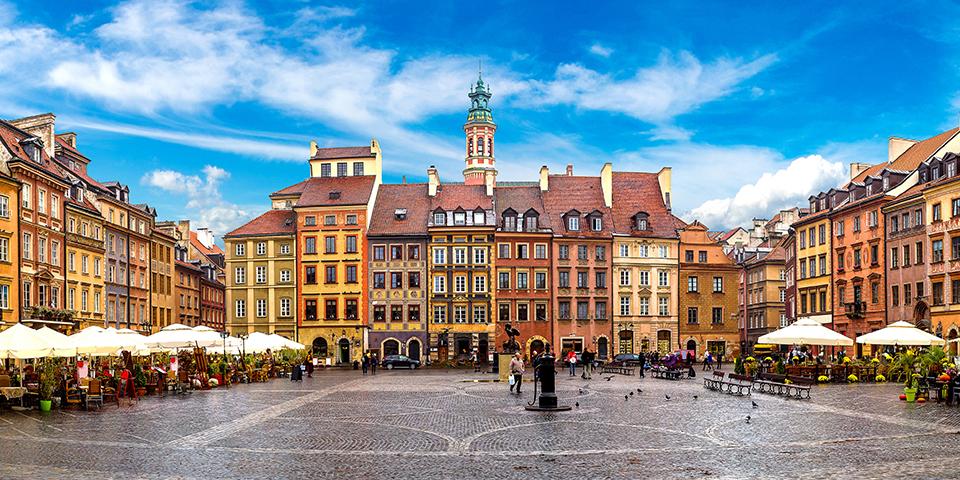 Den centrale plads i hyggelige Warszawa.