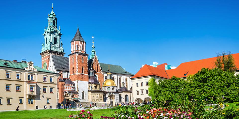 Den imponerende Wawel-katedral.