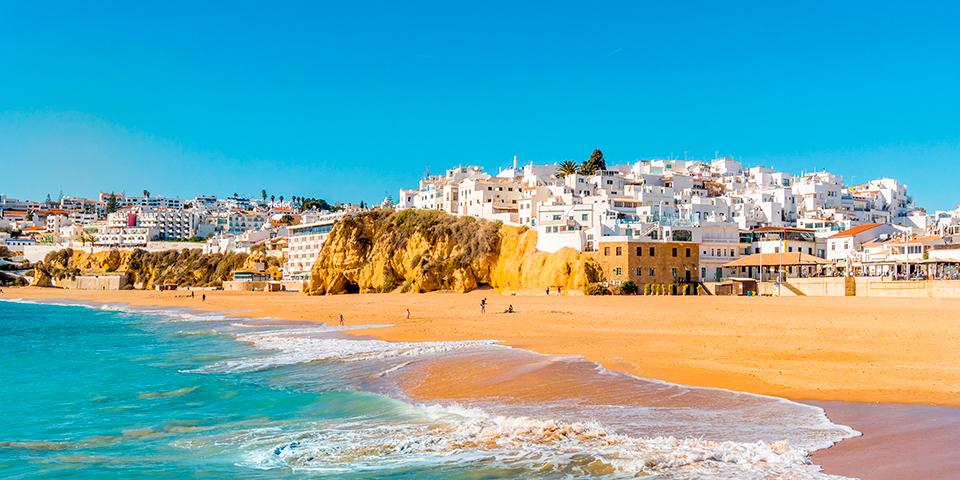 De gyldne strande ved Albufeira.