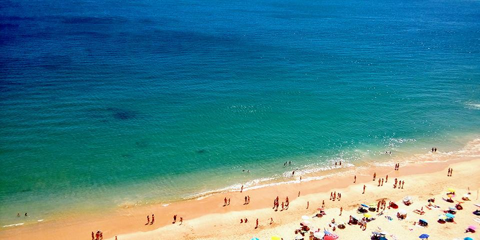 Stranden i Sesimbra.