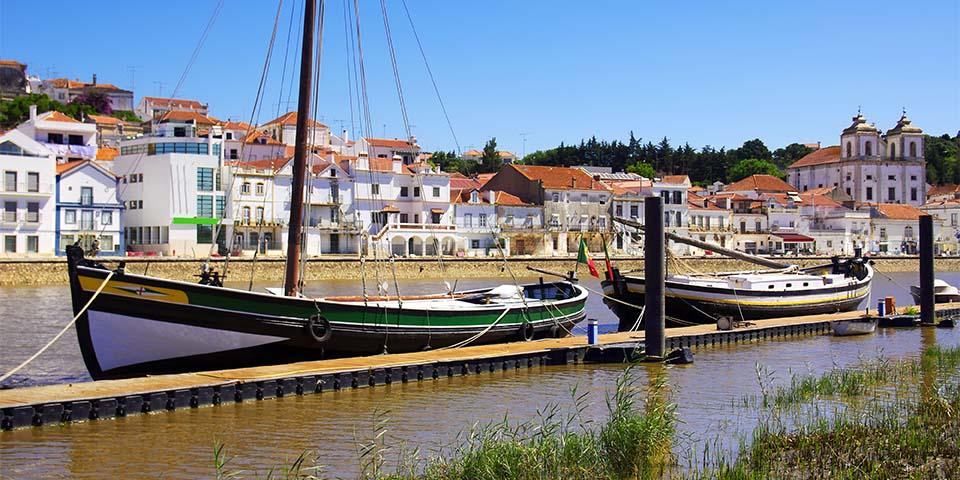 Den smukke by Alcacer do Sal, hvor vi gør ophold.