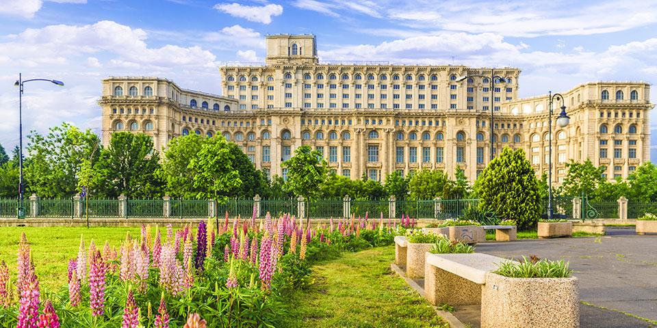 Folkets hus i Bukarest.
