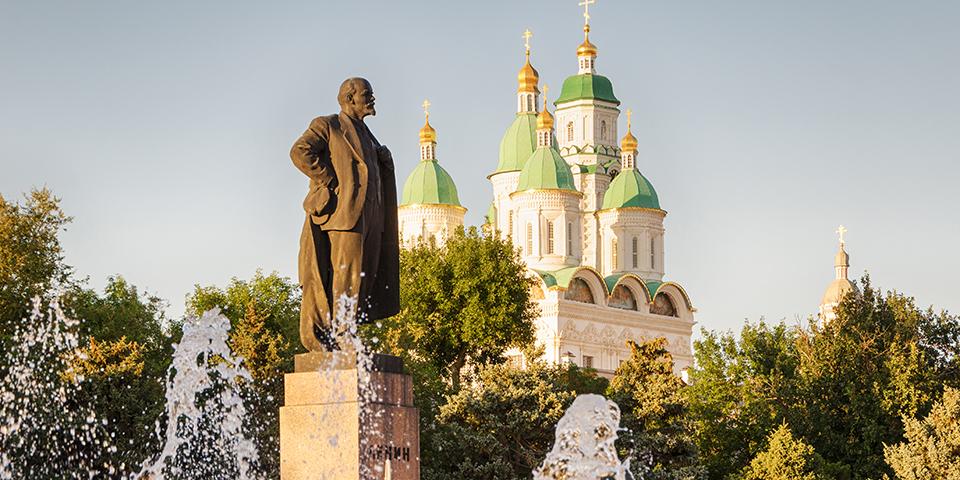 Første stop på rejsen er i Astrakhan.