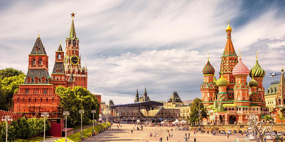 Den Røde Plads med Kreml.
