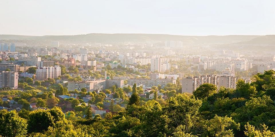 Panorama over Saratov, der blev grundlagt i 1590.
