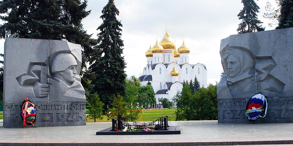 Kirke og monument i Jaroslavl.
