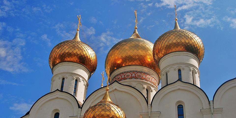 Gyldne kupler i Jaroslavl.