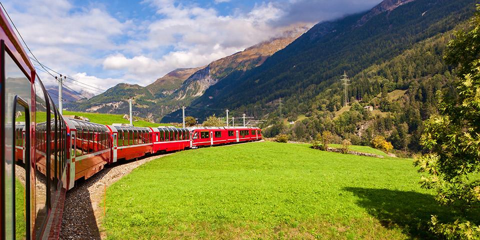 På tur med den berømte Glacier Express.