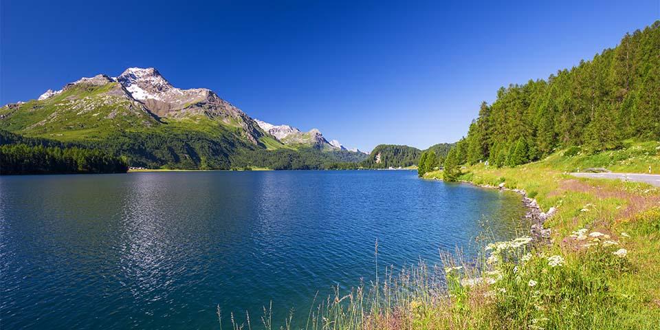 Oplev det flotte landskab ved Lenzerheide.