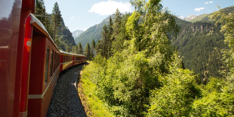 På tur med Rhätische Bahn.