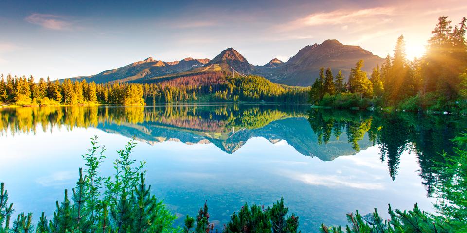 Den smukke sø Strbske Pleso.