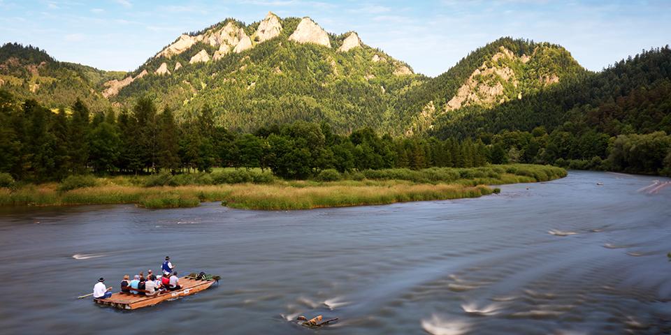 Tømmerflåde på Dunajecfloden.