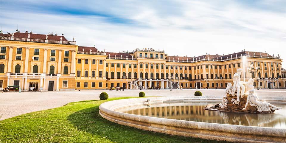 Det pragtfulde barokslot Schönbrunn.