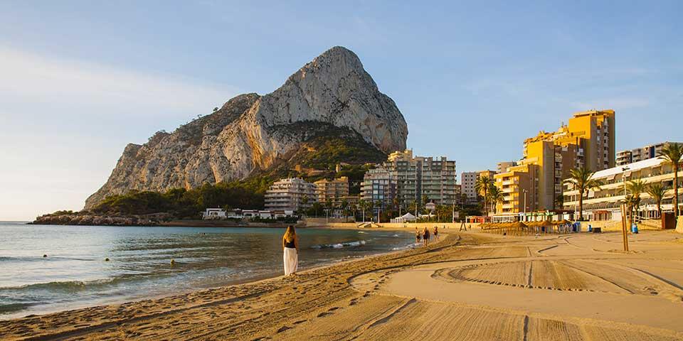 Stranden i Calpe.