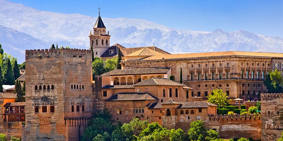 Det imponerende Alhambrapalads.