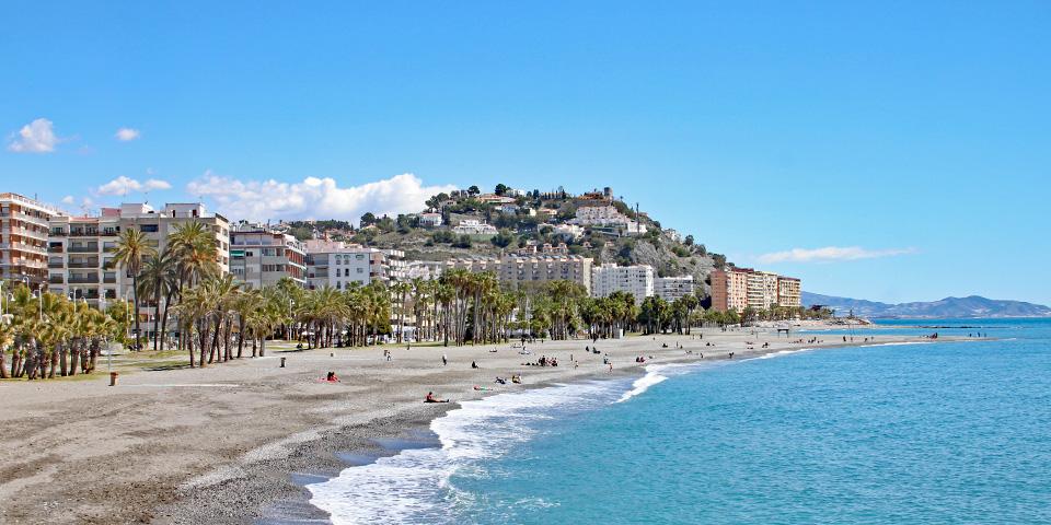 Stranden i Almuñécar.