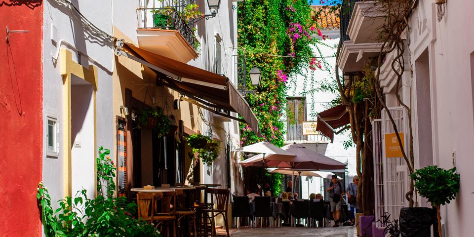 Restaurant i charmerende Marbella.