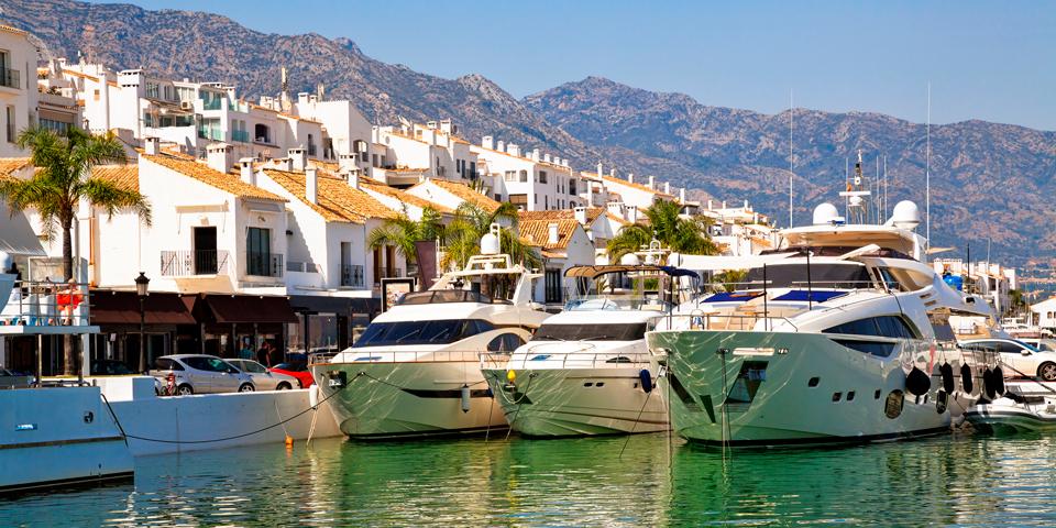 Havnen Puerto Banus i Marbella.