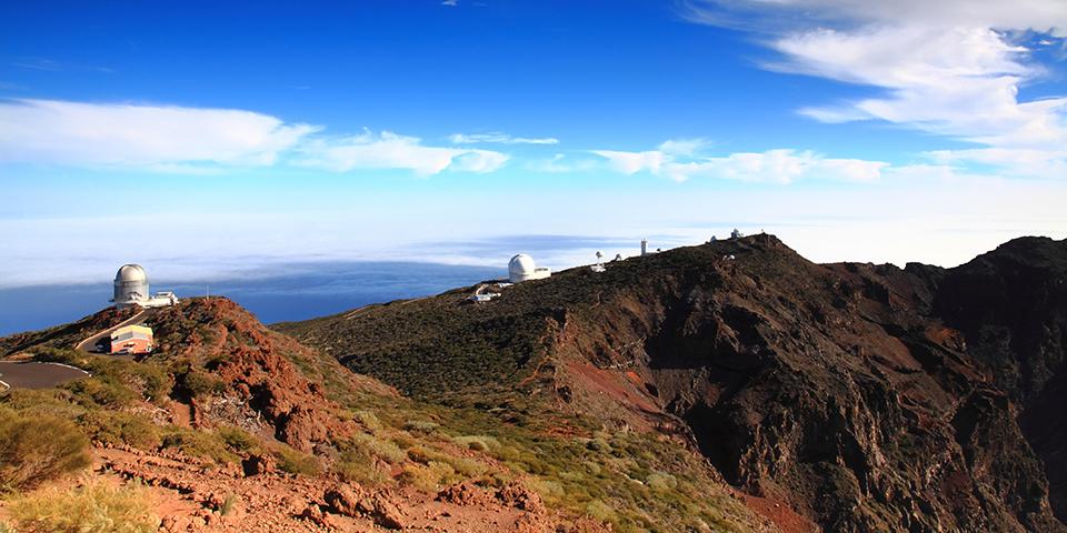Observatoriet i Roque de Los Muchachos.