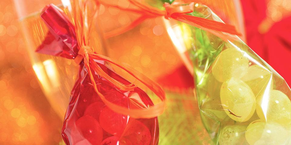 Følg den spanske nytårstradition og spis 12 vindruer.