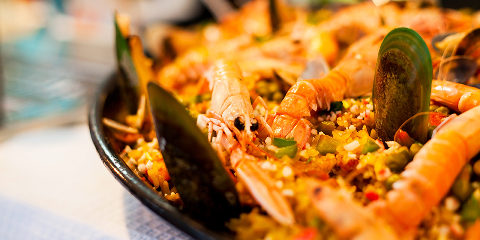 Den klassiske spanske Paella.