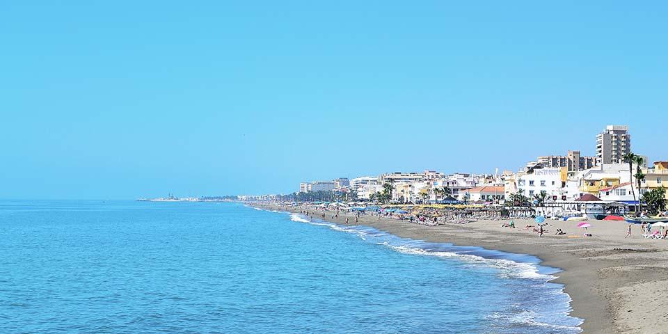 Stranden i Torremolinos.