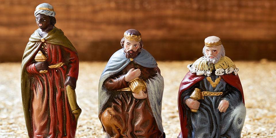 De Hellige Tre Konger, Melchior, Kasper og Balthazar.