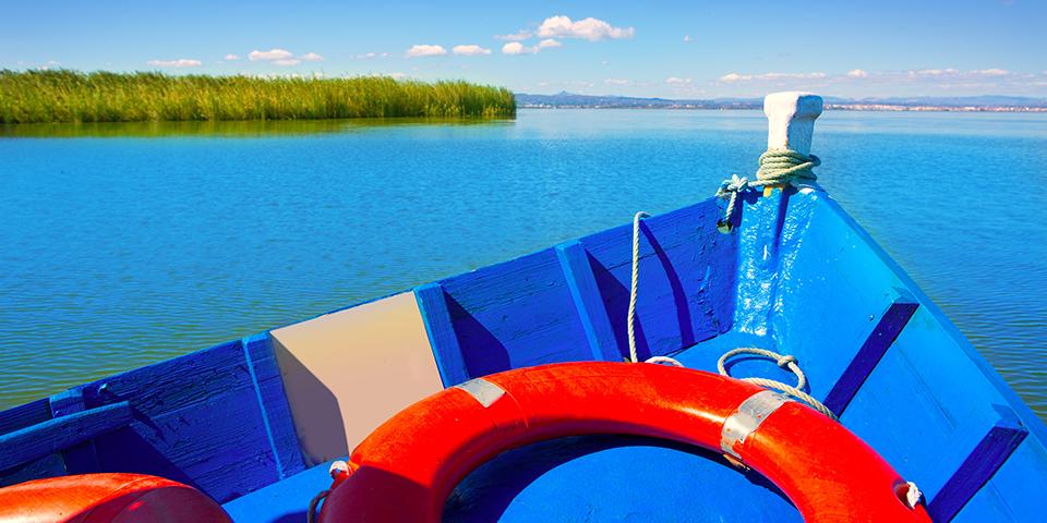 Sejltur på søen i Albufera.