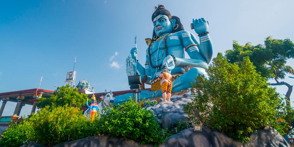 Shivastatue i Trincomalee.