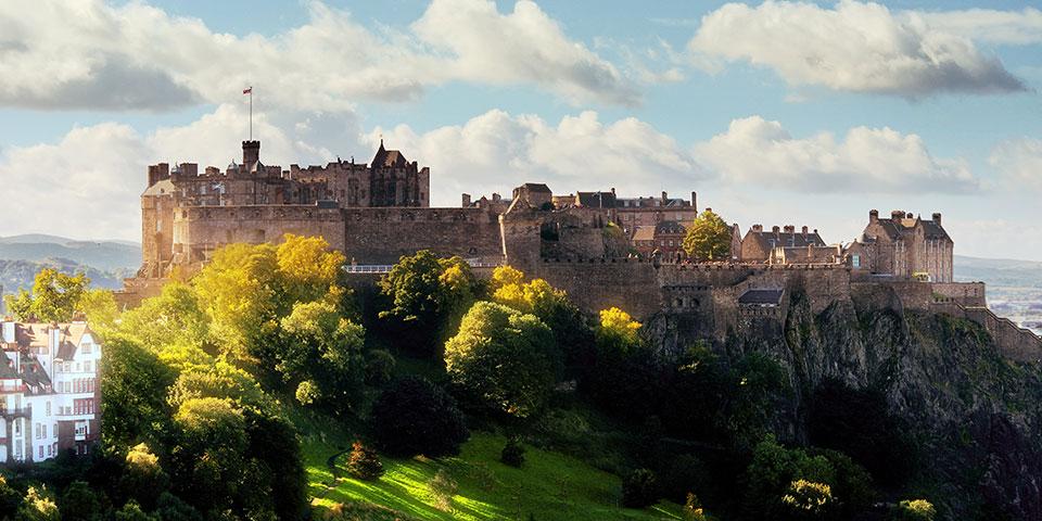 Det verdensberømte Edinburgh Castle.