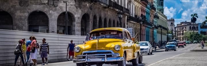 Bil i Havanas gader