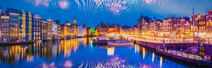 Nytår i Amsterdam.