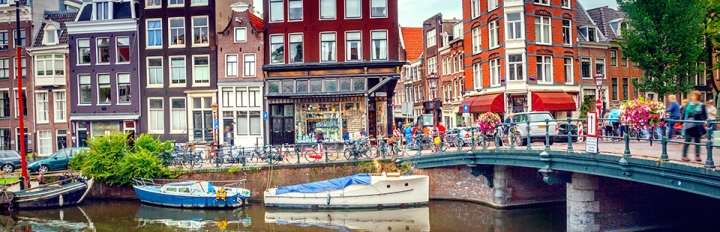 Amsterdam i Holland