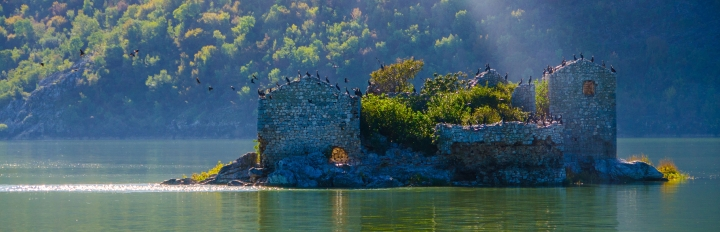 Grmozur-fortet i Skadarsøen i Montenegro.