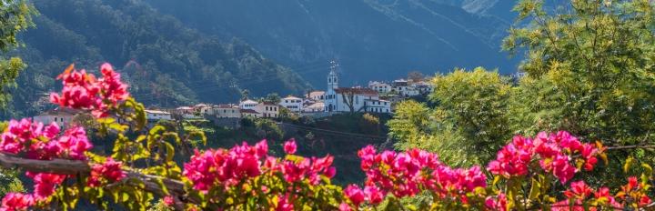 Udsigt over Sao Vicente på Madeira.