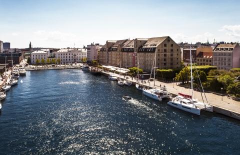Panorama over Admiral Hotel i København.