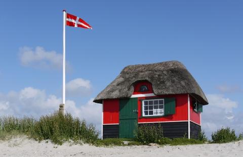 Badehus ved Eriks Hale på Ærø.