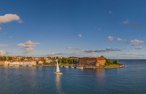 Panorama over Sønderborg.a