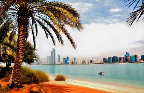 Udsigt til Abu Dhabi.