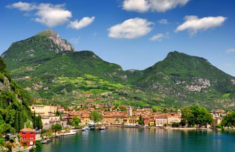 Riva del Garda ved Gardasøen.