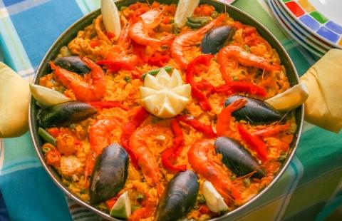 Spansk paella på Tenerife.