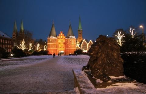 Holsten Tor i Lübeck - Lübeck Julemarked