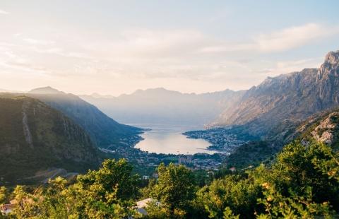 Udsigt over Tivat og Kotorbugten i Montenegro.