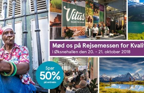 Rejsemessen for Kvalitetsrejser 2018 - Spar 50% på entréen.