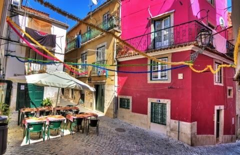 Hyggelig cafe i Lissabon.